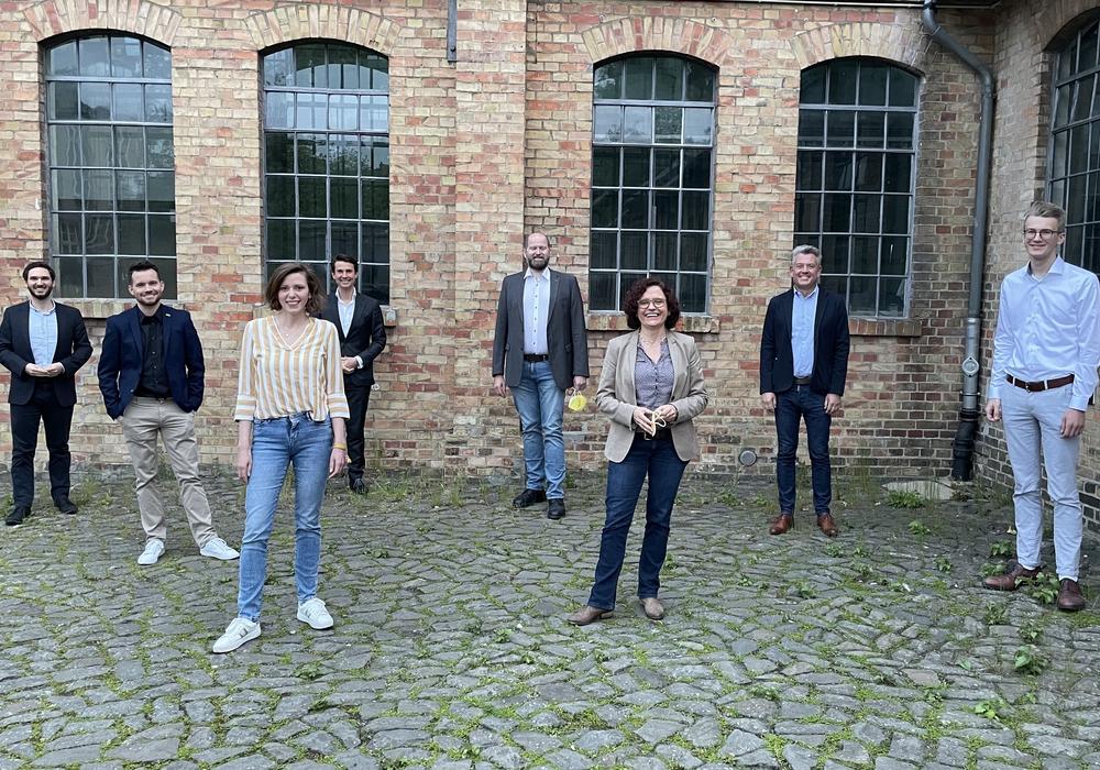 Von links nach rechts: Falk-Martin Drescher, Mathias Möller,  Anikó Merten, Kaspar Haller, Ingo Schramm, Petra Steinhoff, Carsten Lehmann, Lukas Kamm (nicht auf dem Bild: Dr. Jan-Philipp Mai).