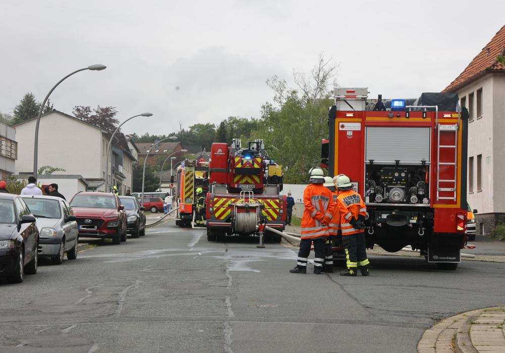 In Gebhardshagen kam es zu einem Kellerbrand.