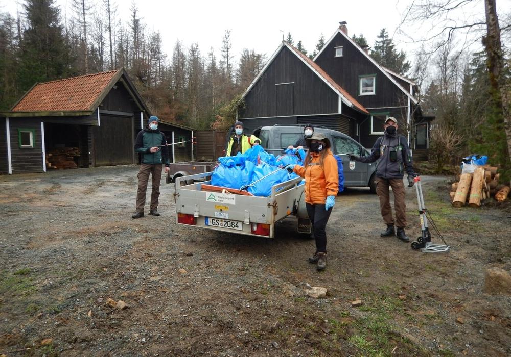 Trotz weniger Teilnehmer wurde dennoch eine beachtliche Menge Müll gesammelt.