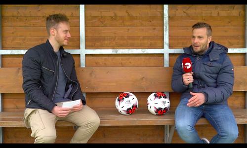 Lars Fuchs (re.) im Interview mit Jan Fischer.