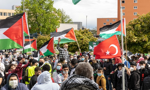 An die 200 Personen hatten unter anderem gegen Bombenangriffe Israels auf Ziele im Gaza-Streifen protestiert.