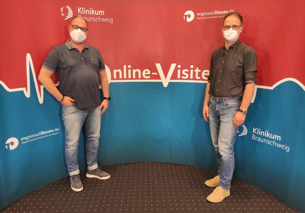 Dr. Ernst Rzesacz und Dr. Martin Willmann vom Klinikum Braunschweig beantworten in der Online-Visite die Fragen der regionalHeute.de-Leser.
