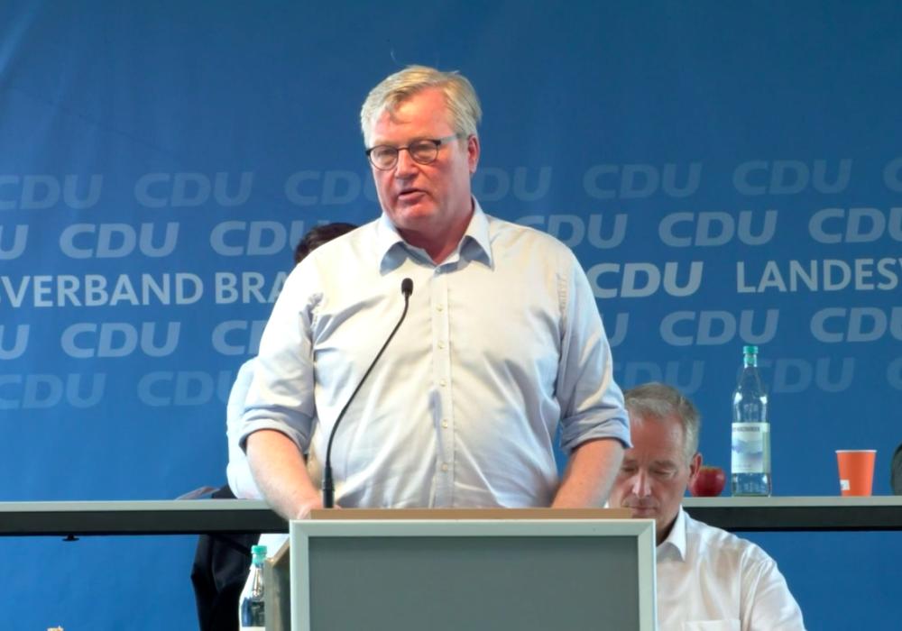 Dr. Bernd Althusmann war Gastredner auf dem Landesparteitag des CDU-Landesverbands Braunschweig.