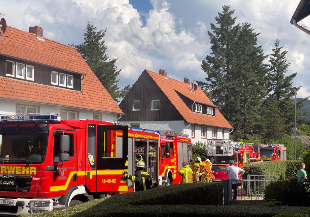 In Bündheim kam es am Samstag zu einem Kellerbrand.