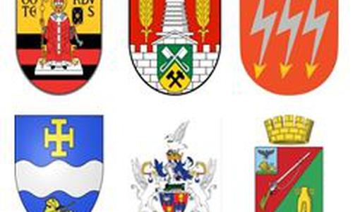 Wappen der Stadt Salzgitter und ihrer Partnerstädte