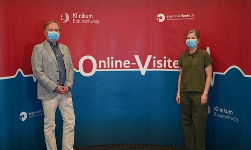 Dr. Henk Garritsen, Chefarzt für klinische Transfusionsmedizin und Dr. Bettina Biermann, Oberärztin der Klinischen Transfusionsmedizin.