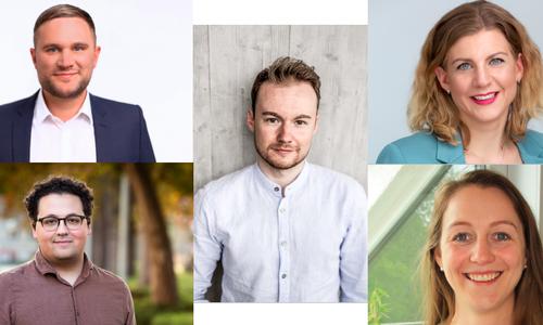 Sophie Ramdor, Christoph Ponto, Ann-Marie Klaas und Ronald Matar vertreten gemeinsam mit Maximilian Pohler die jungen Interessen im neuen CDU-Landesvorstand.