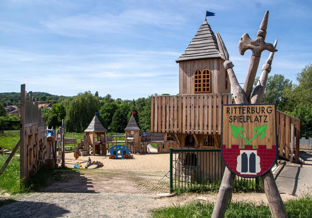 Der Ritterburg-Spielplatz in Gebhardshagen.