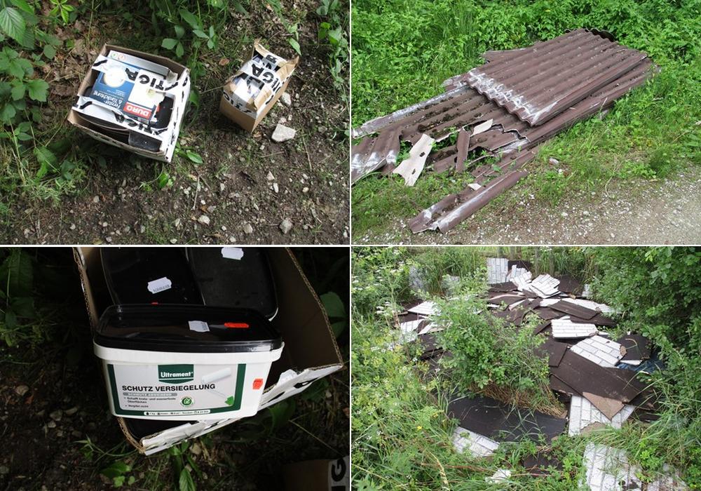 Dieser Müll wurde einfach im Wald entsorgt.