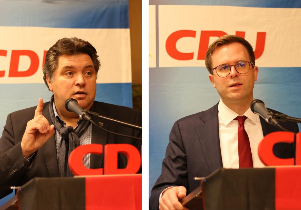 CDU-Landratskandidat Uwe Schäfer und CDU-Bürgermeisterkandidat Dr. Adrian Haack