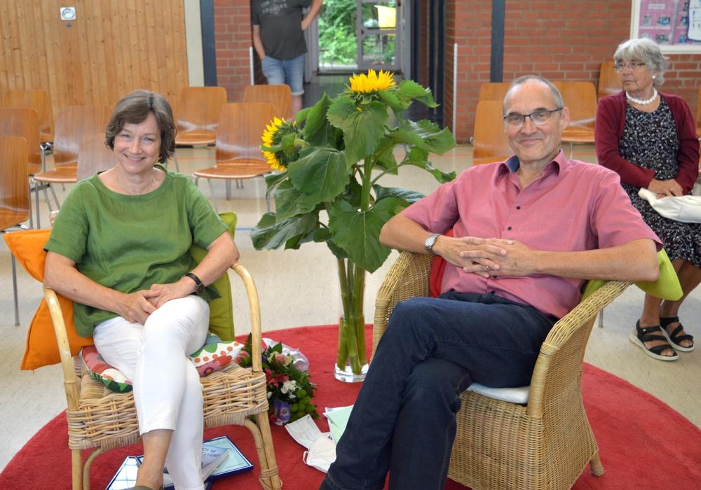 Der Ehrenplatz von Kerstin Kawa und Günther Kampen.
