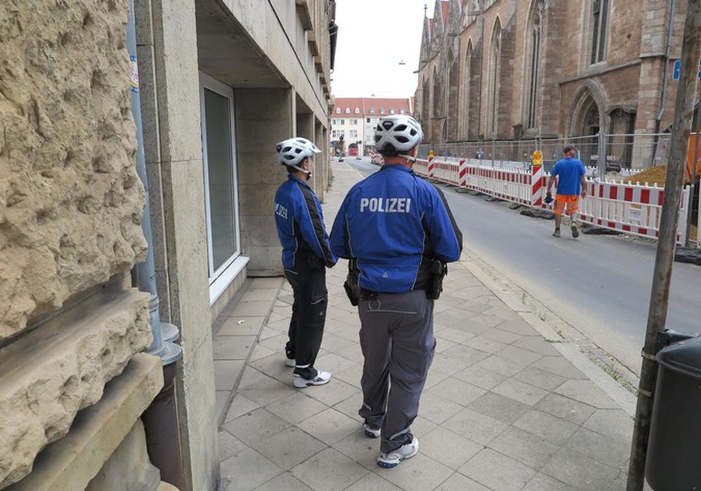 Die Polizei kontrollierte in der Sonnenstraße.