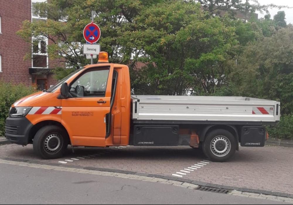 Der gestohlene Transporter des städtischen Bauhofs.