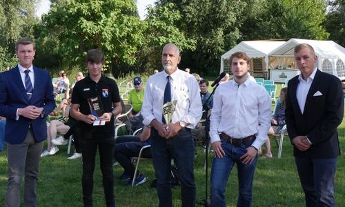 Leon Bischoff, Nico Förster (Sportler des Jahres), Peter Waldmann (Wasserballer des Jahres), Kristopher Wilkens, Maurice Waldmann