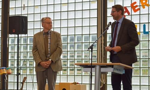 Dr. Bormann und Marco Kelb (re.).