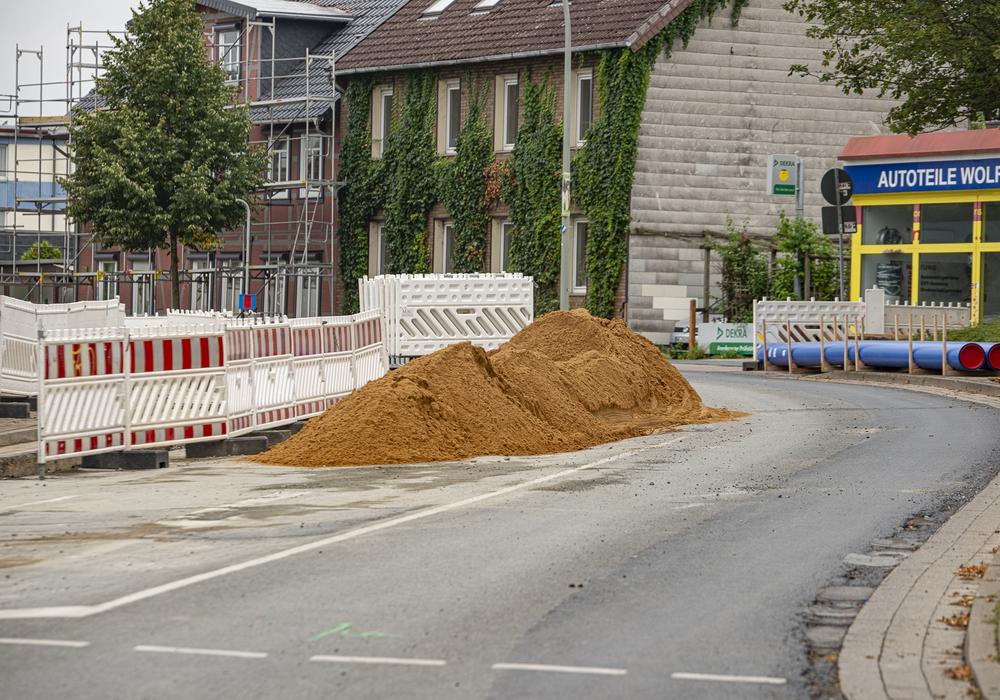 In der Goslarschen Straße wird weiter gebaut.