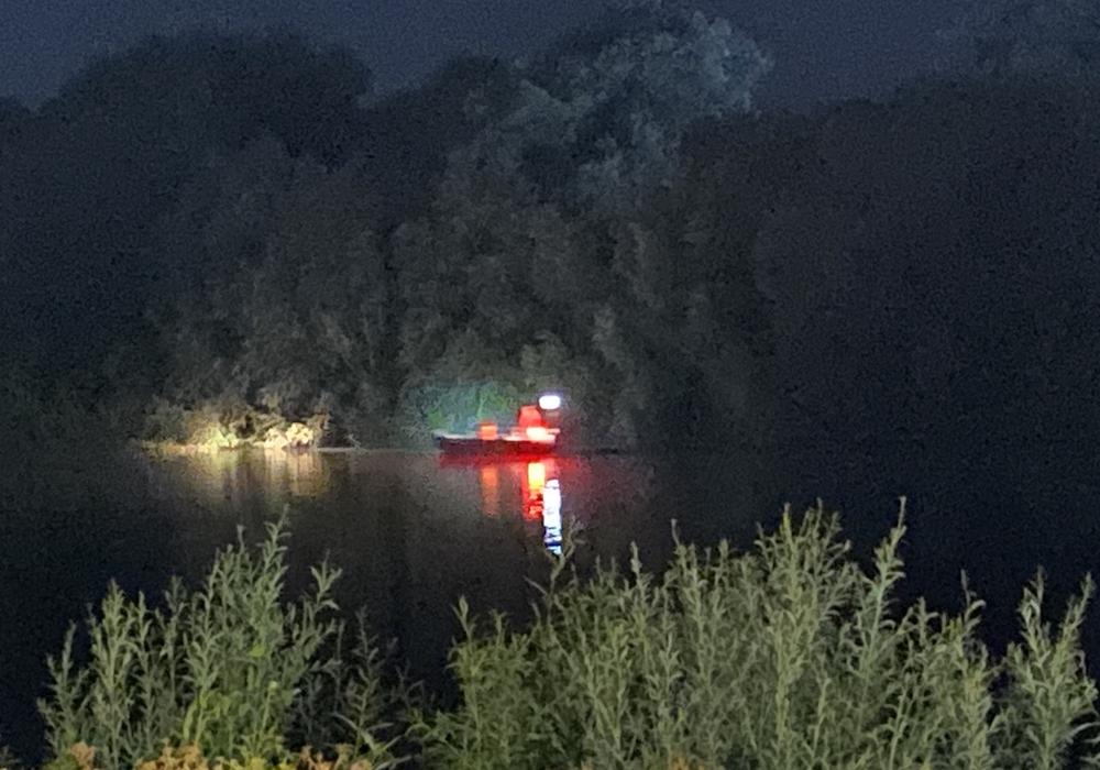 Der Salzgittersee wurde mit Booten abgesucht.