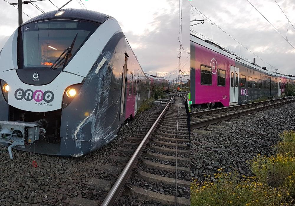 Ein Zug ist in Wolfsburg am Morgen entgleist.