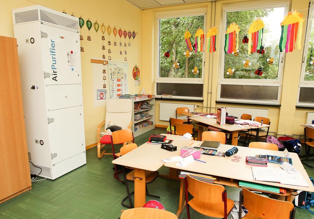 Luftfilter in der Gebrüder-Grimm-Schule.