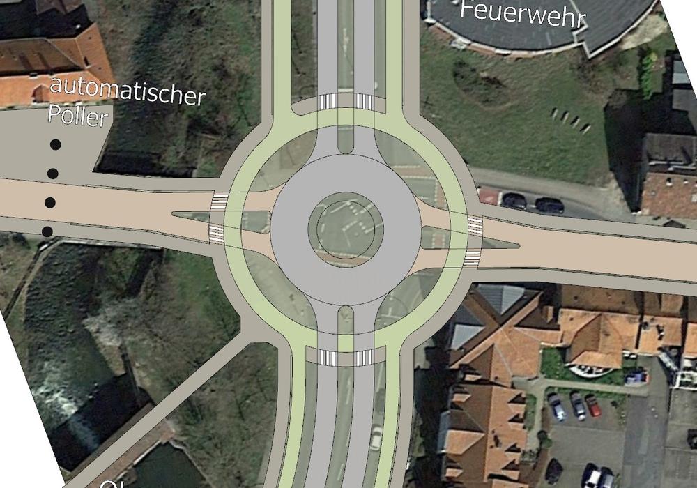 Vorschlag der Grünen für den Umbau der Kreuzung Dr.-Heinrich-Jasper-Straße / Jägerstraße.