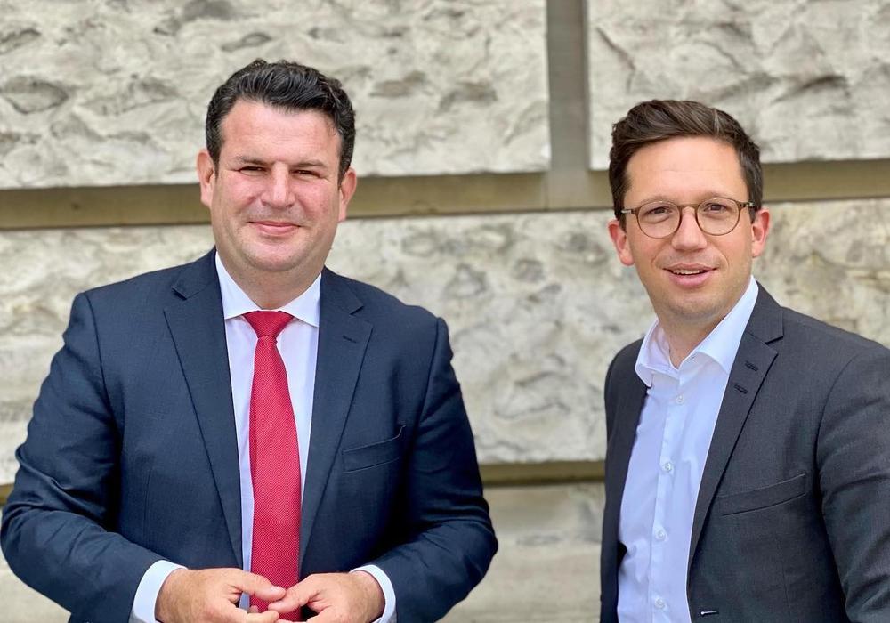 Hubertus Heil und Falko Mohrs, beide SPD.