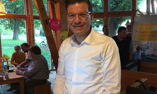 Björn Försterling zeigt sich erfreut über Ergebnis seiner Kandidatur.