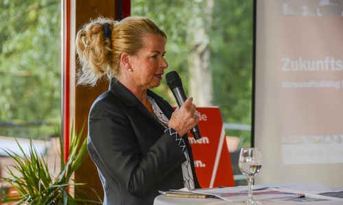 Urte Schwerdtner, Oberbürgermeisterkandidatin der SPD.