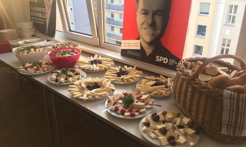 Bei der SPD setzt man auf Käse...