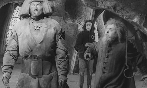 Eine Szene aus Der Golem, wie er in die Welt kam von 1920.